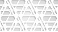 moving perforated white triangles, loop video