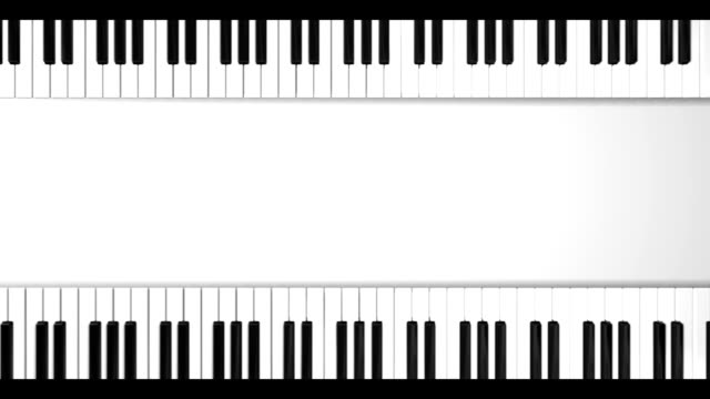Moving piano keyboard video