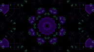 Moving purple geometric shapes video