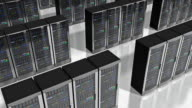 Moving rows of network servers in datacenter video