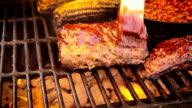 Moving Shot Mixed Grill with Pork Ribs video