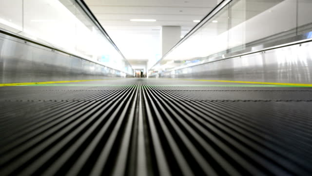 moving sidewalk, escalator walkway. video