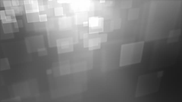 Moving Square Particles Loop - Silver video