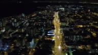 Moving through the night traffic video