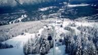 Moving Up Mountain At Ski Resort video