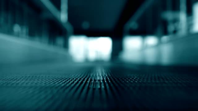 Moving walkway at airport video