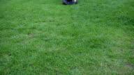 mowing grass video