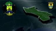 Moyen-Ogooue  - Lambarene whit Coat of arms animation map video