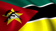 Mozambique Flag Loopable video