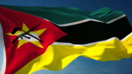 4K Mozambique Flag - Loopable video