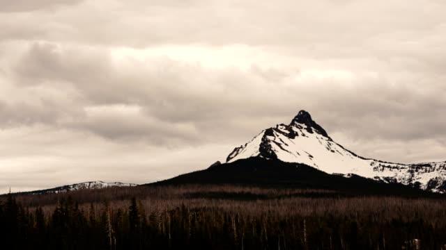 Mt Washington Big Lake Oregon Cascades Stormy Weather video