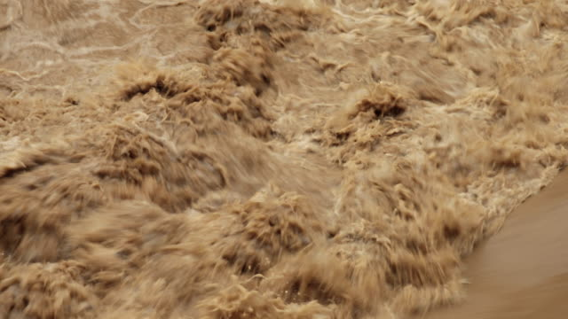 mucky flood waters close up video
