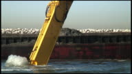 (HD1080) Mud Dredged, Dug, Scooped -- Dropped, Dumped On Barge video