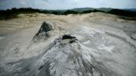 Mud volcanoes landscape in summer season video