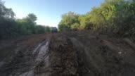 Muddy road in Madagascar video