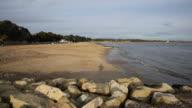 Mudeford beach near Christchurch Dorset England UK dog video