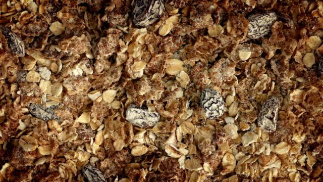 Muesli Breakfast Cereal Closeup video