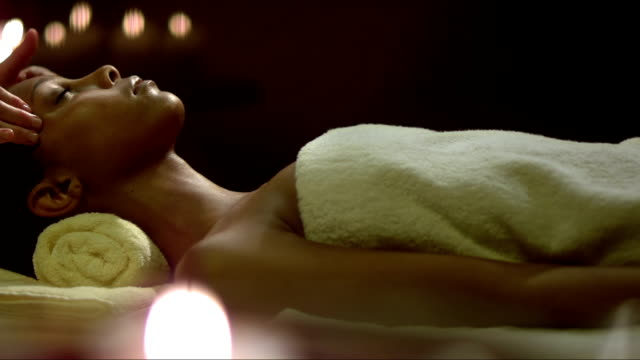 Mulatto Woman Having A Head Massage video