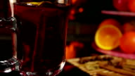 Mulled wine and fruits video