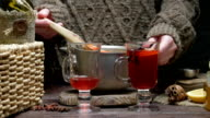 Mulled wine pouring video