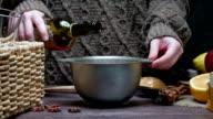 Mulled wine preparing video