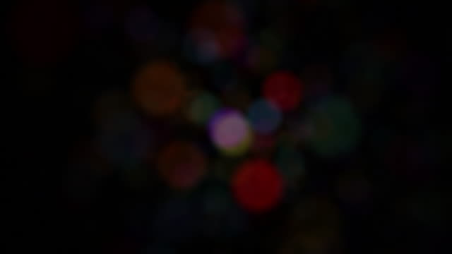 Multi Color Defocused Bokeh Background Loop video