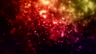 Multi color particles video