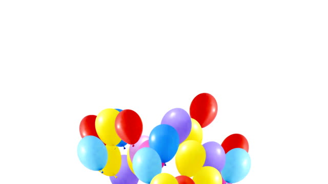 multi colored balloons video