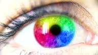 Multi Colored Human Eye video