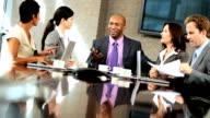 Multi Ethnic Business Team Boardroom Meeting video