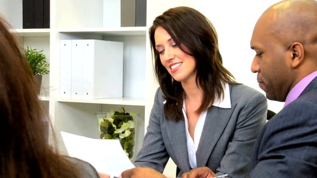 Multi Ethnic Business Team Modern Boardroom video