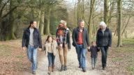 Multi Generation Family On Countryside Walk video