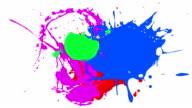 multi paint splash video