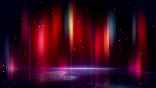multicolor borealis and reflection loopable background video