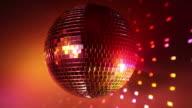 Multicolor disco ball video