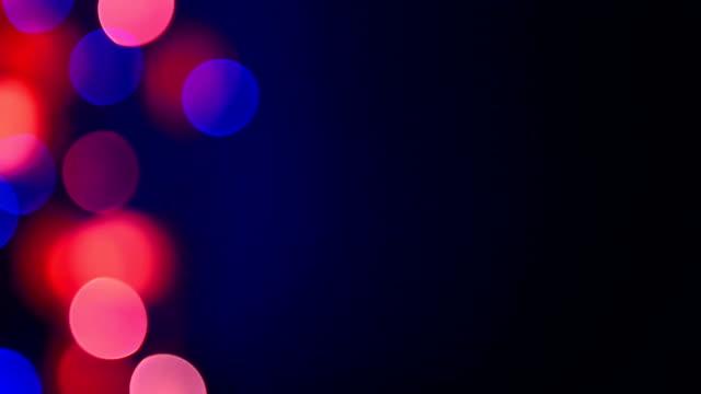 Multicolor flickering defocused lights video