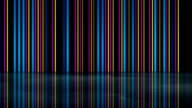 Multicolor neon lines with reflection 3D render loop video