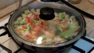 multicolored delicious paella video