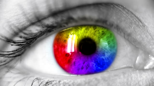 Multicolored Human Eye video