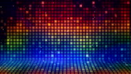 multicolored mosaic flashing loopable background video