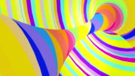 Multicolored motion torus. Loop animation. video