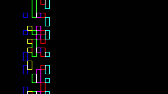 Multicolored squares sliding pattern video