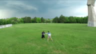 Multicopter Aerial Shot of outdoor Boxing Training video