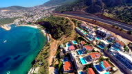Multicopter view of Kalkan Mediterranean town video