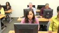 Multi-Ethnic Adult Student Learners - Near b video