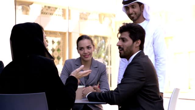 Multi-ethnic business people in Dubai video