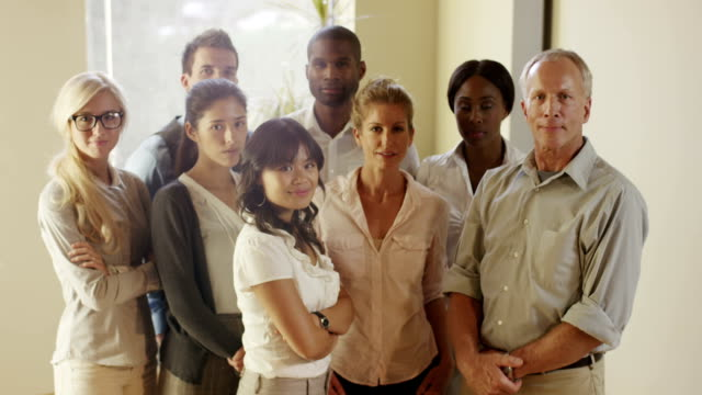 Multiethnic diverse generation group of people thumbs up video