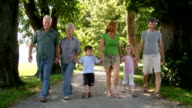 HD: Multi-Generational Family Walking In The Park video