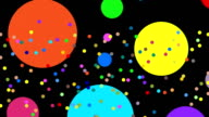 Multiple Abstract Colorful Dots in Actions leading to Copy Space video