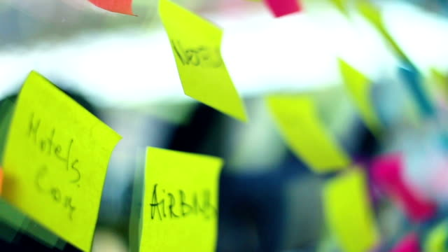 Multiple Colourful business Post It With Idea Text video